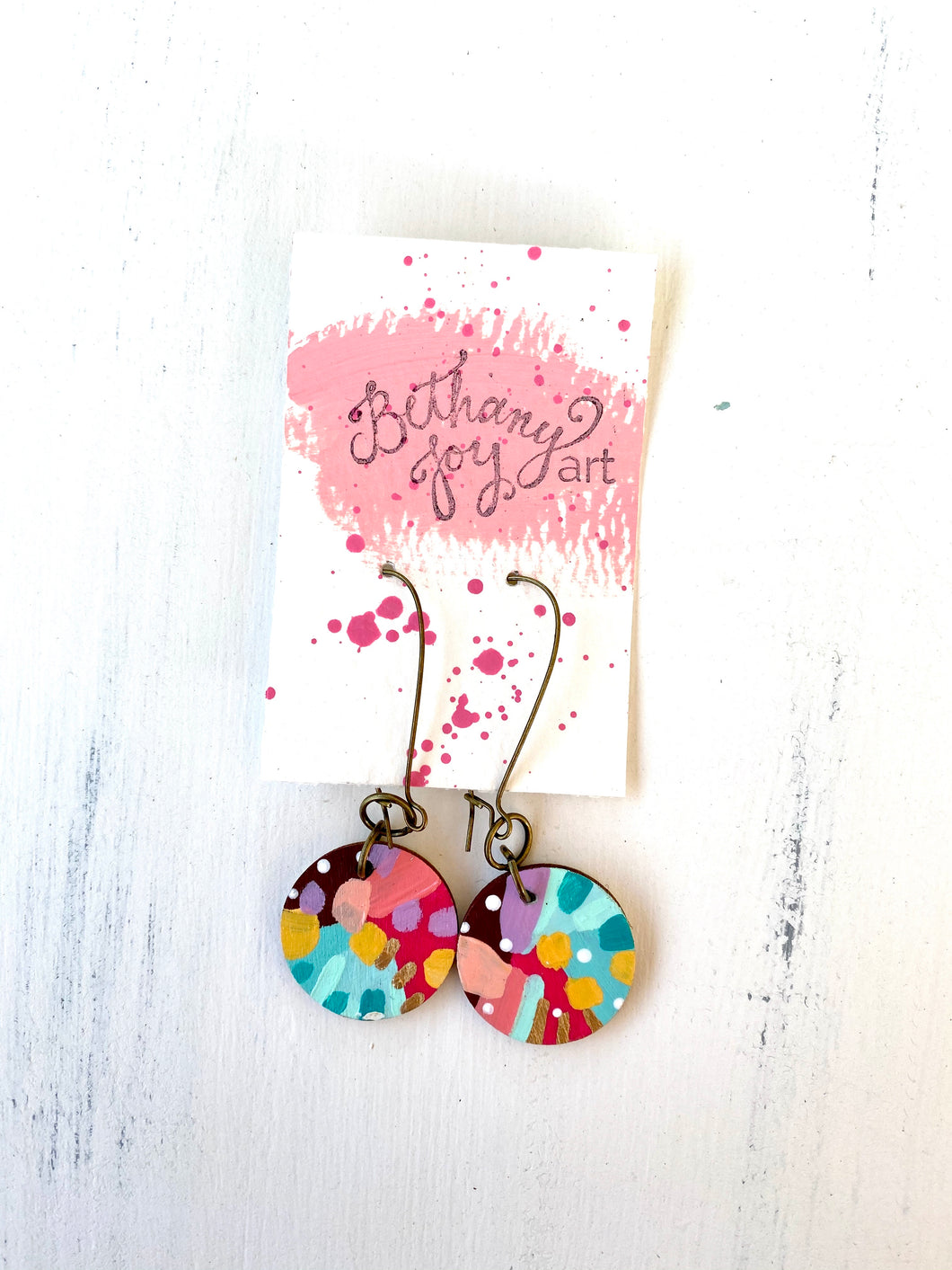 Colorful, Hand Painted Earrings 90