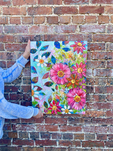 """Sunshine and Fresh Air"" Floral Original Painting on 24x20 inch canvas - Bethany Joy Art"