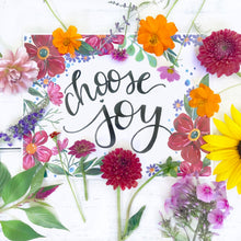 Load image into Gallery viewer, Floral Choose Joy Art Print - Bethany Joy Art