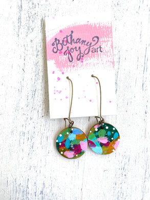 Colorful, Hand Painted Earrings 52 - Bethany Joy Art