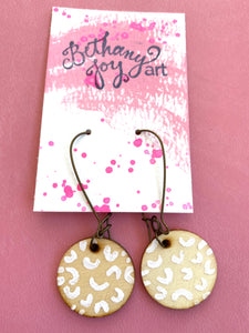 Colorful, Hand Painted Earrings 6 - Bethany Joy Art