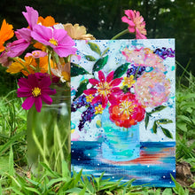 "Load image into Gallery viewer, August Daily Painting Day 17 ""Golden Seaside Bouquet"" 5x7 inch Floral Original - Bethany Joy Art"