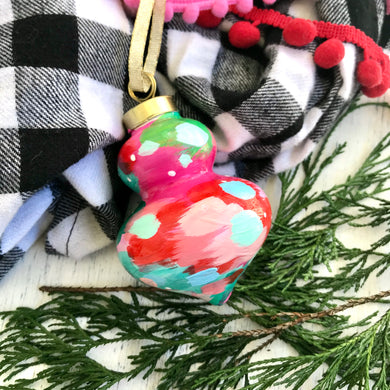 Multi-colored Hand-painted Ceramic Christmas Ornament #3