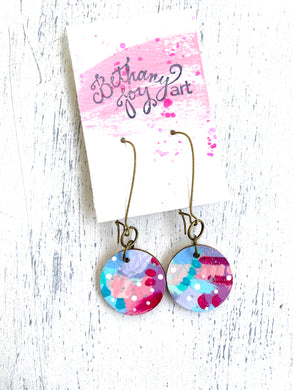 Colorful, Hand Painted Earrings 46 - Bethany Joy Art