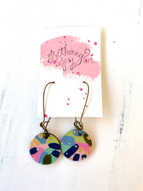 Colorful, Hand Painted Earrings 105