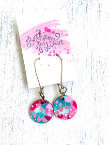 Colorful, Hand Painted Earrings 39 - Bethany Joy Art