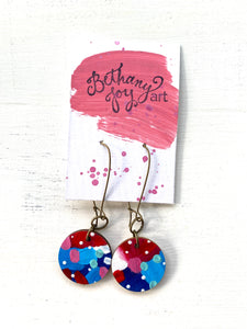 Colorful, Hand Painted Earrings 87