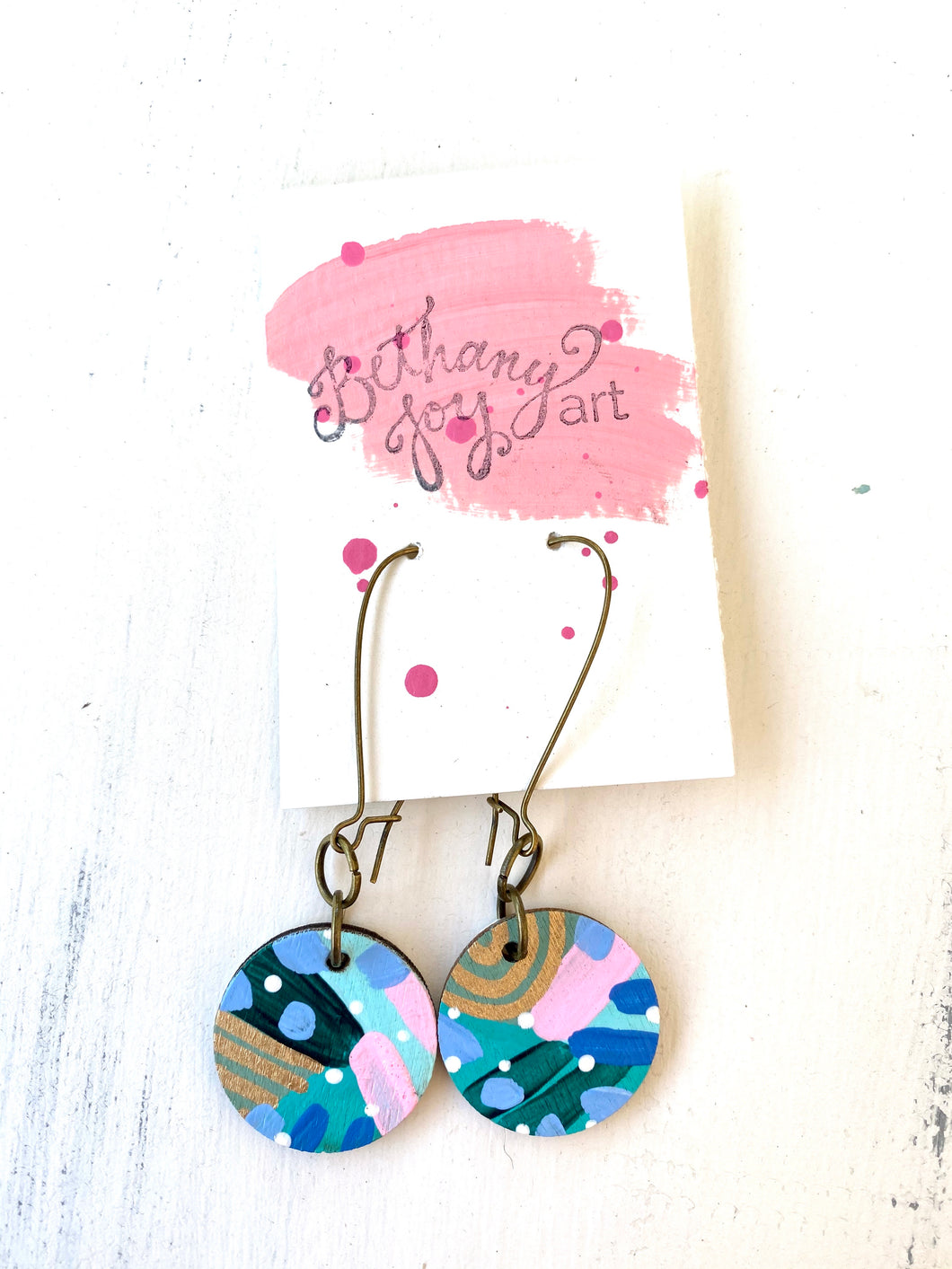 Colorful, Hand Painted Earrings 97