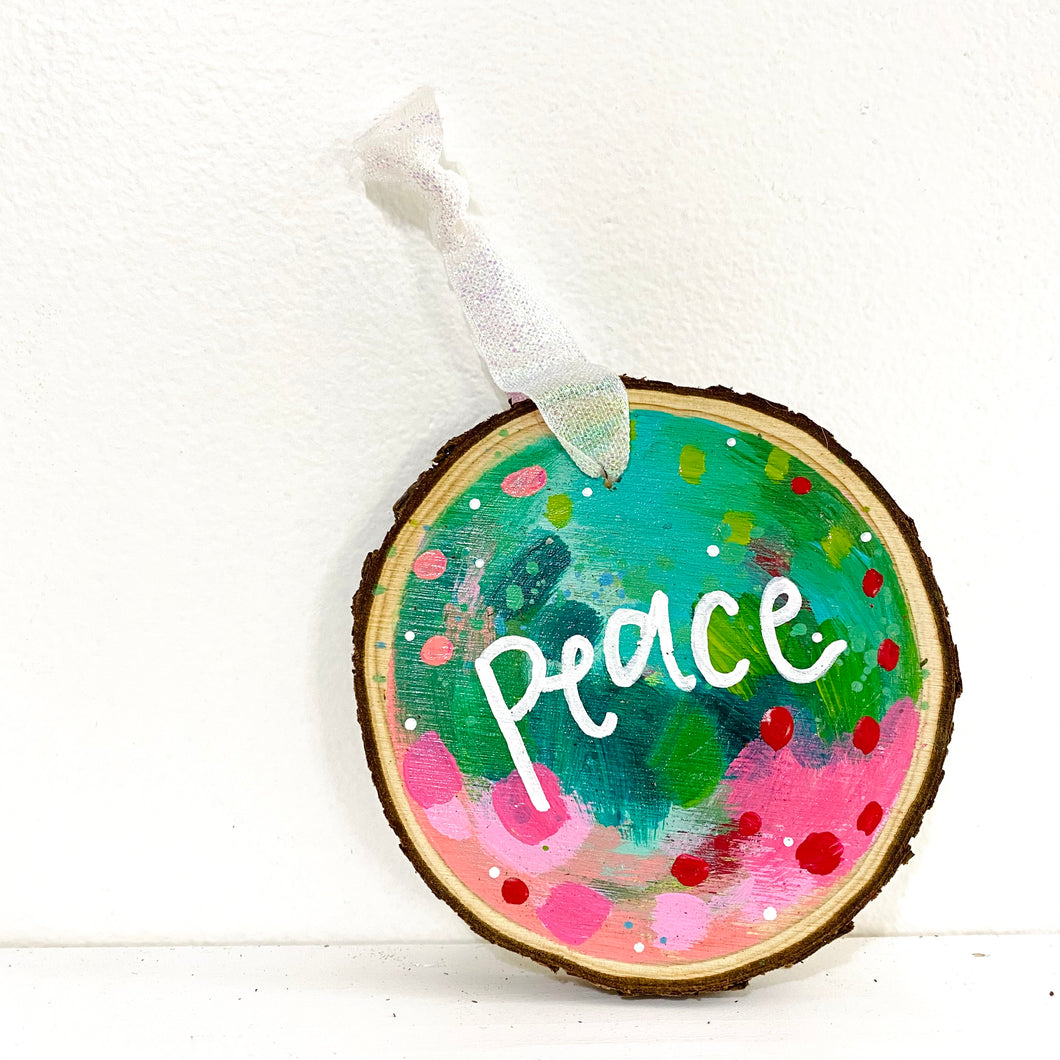 Hand-painted wooden ornament