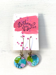 Colorful, Hand Painted Earrings 73