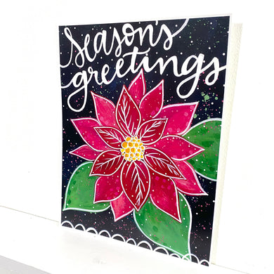 Season's Greetings 8.5x11 inch holiday art print
