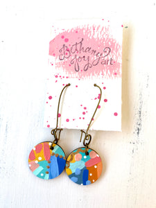 Colorful, Hand Painted Earrings 112