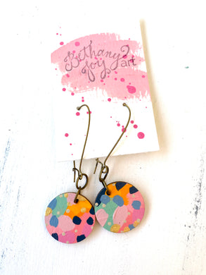 Colorful, Hand Painted Earrings 115
