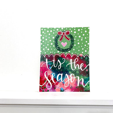 Tis the Season 8.5x11 inch holiday art print