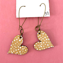 Load image into Gallery viewer, Colorful, Hand Painted, Heart Shaped Earrings 37
