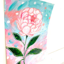 Load image into Gallery viewer, February Flowers Day 14 Peony 8.5x11 inch original painting