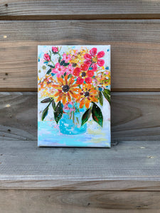 "August Daily Painting Day 25 ""Soul Full of Sunshine"" 5x7 inch Floral Original - Bethany Joy Art"