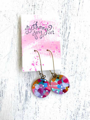 Colorful, Hand Painted Earrings 47 - Bethany Joy Art