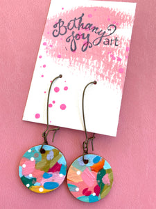 Colorful, Hand Painted Earrings 18 - Bethany Joy Art
