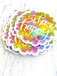 Choose Happy - March Sticker of the Month - Bethany Joy Art