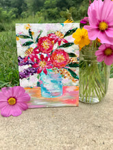 "Load image into Gallery viewer, August Daily Painting Day 26  ""Flower Child"" 5x7 inch Floral Original - Bethany Joy Art"
