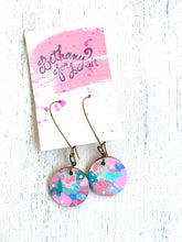Load image into Gallery viewer, Colorful, Hand Painted Earrings 40 - Bethany Joy Art