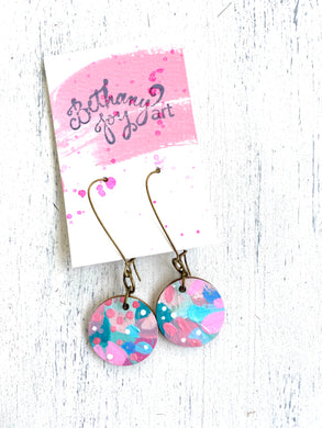 Colorful, Hand Painted Earrings 40 - Bethany Joy Art