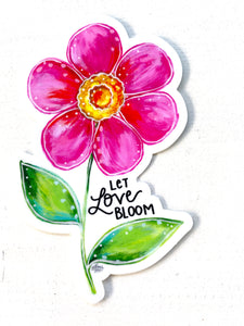 Let Love Bloom Floral August Sticker of the Month