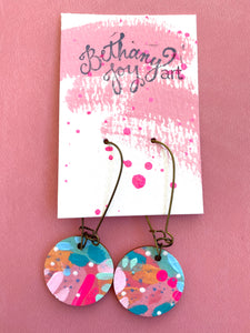 Colorful, Hand Painted Earrings 27 - Bethany Joy Art