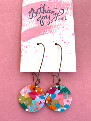 Colorful, Hand Painted Earrings 21 - Bethany Joy Art