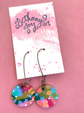 Colorful, Hand Painted Earrings 23 - Bethany Joy Art