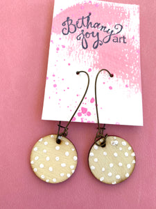 Colorful, Hand Painted Earrings 11 - Bethany Joy Art