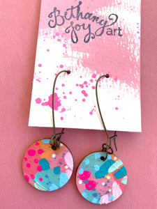 Colorful, Hand Painted Earrings 19 - Bethany Joy Art