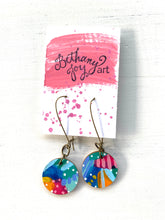 Load image into Gallery viewer, Colorful, Hand Painted Earrings 79