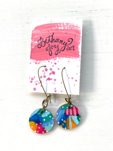 Colorful, Hand Painted Earrings 79