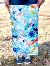 "Load image into Gallery viewer, Abstract Original Painting ""Perfect Beach Day"" 12x24 inch Canvas - Bethany Joy Art"