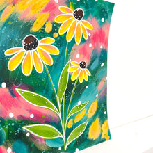 Load image into Gallery viewer, February Flowers Day 26 Black-Eyed Susan 8.5x11 inch original painting