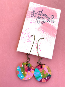 Colorful, Hand Painted Earrings 20 - Bethany Joy Art