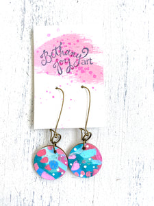 Colorful, Hand Painted Earrings 38 - Bethany Joy Art