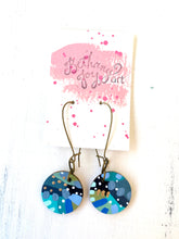 Load image into Gallery viewer, Colorful, Hand Painted Earrings 99