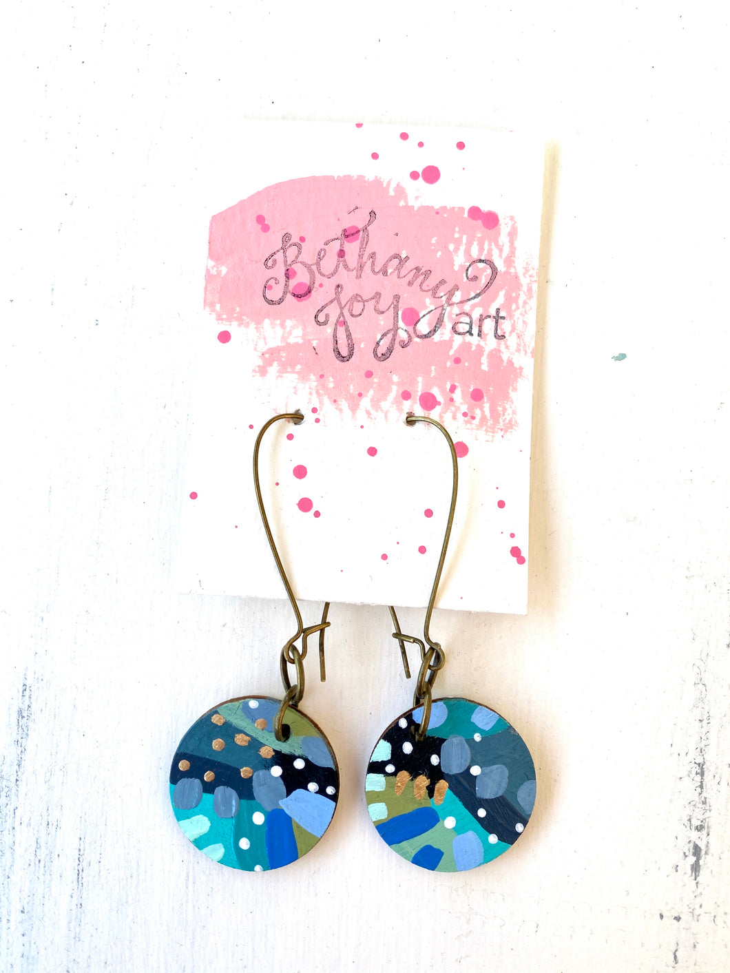 Colorful, Hand Painted Earrings 99
