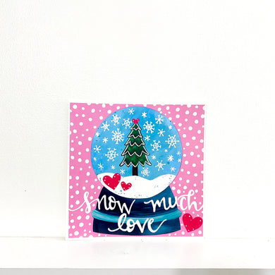 Snow Much Love 8x8 inch holiday art print