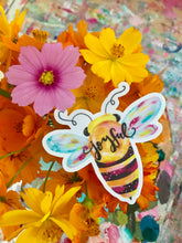 Load image into Gallery viewer, Bee Joyful Vinyl Sticker - Bethany Joy Art