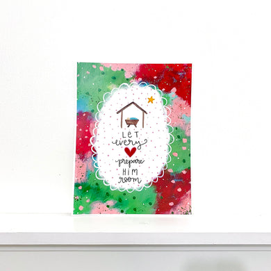 Let Every Heart Prepare Him Room 8.5x11 inch holiday art print