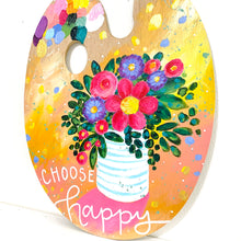 "Load image into Gallery viewer, Paint Palette Original Painting 12 Days of Christmas Day 8 ""Choose Happy"""