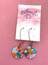 Load image into Gallery viewer, Colorful, Hand Painted Earrings 24 - Bethany Joy Art