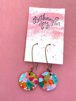 Colorful, Hand Painted Earrings 24 - Bethany Joy Art