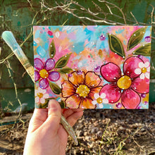 "Load image into Gallery viewer, January Daily Painting Day 6 ""Consider the Wildflowers"" 5x7 inch Floral Original - Bethany Joy Art"