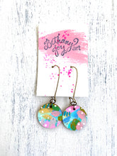 Load image into Gallery viewer, Colorful, Hand Painted Earrings 54 - Bethany Joy Art