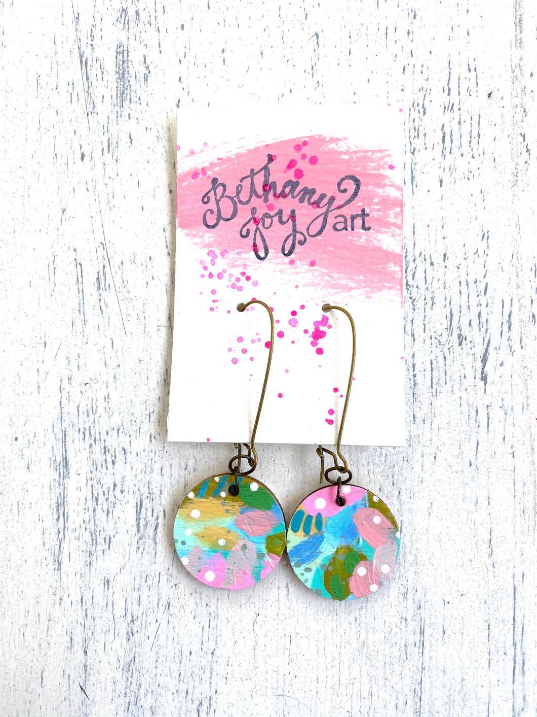 Colorful, Hand Painted Earrings 54 - Bethany Joy Art
